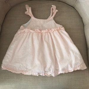 Baby GAP Girl's Pink Gingham & Ruffle Dress 12-18M